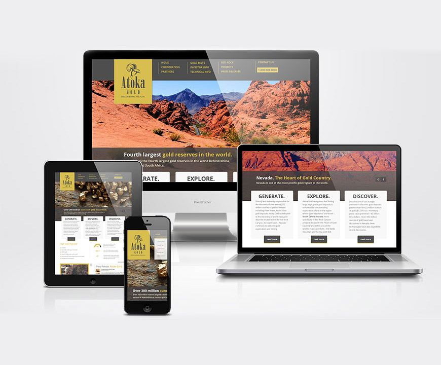 Atoka-Gold-website-design