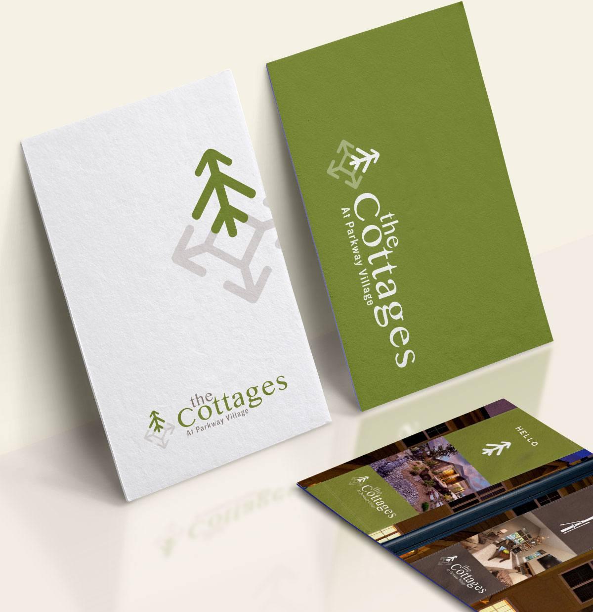 The-Cottages-logo-design