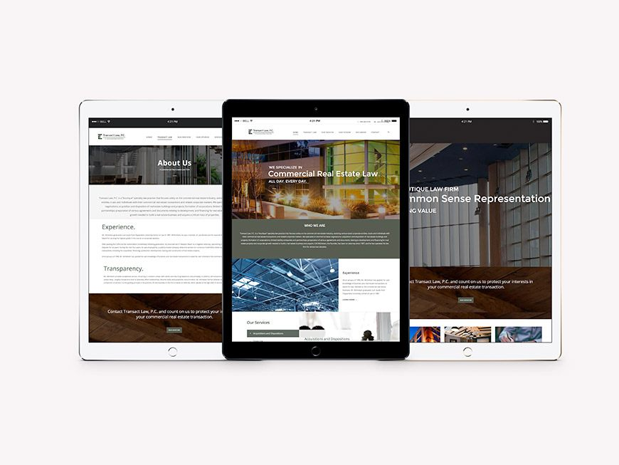 Transact-Law-website-design