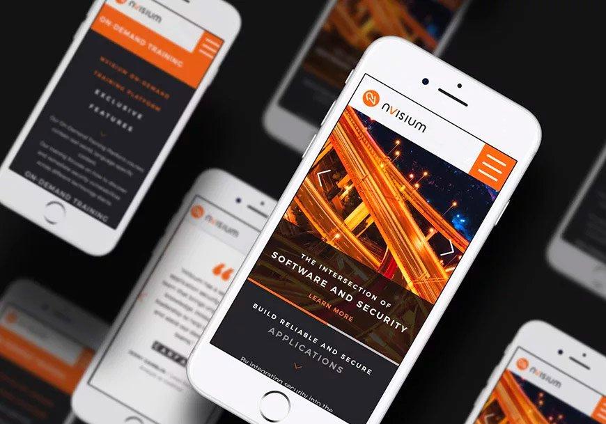 nVisium mobile web design