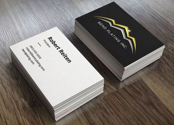Bend Plating business card