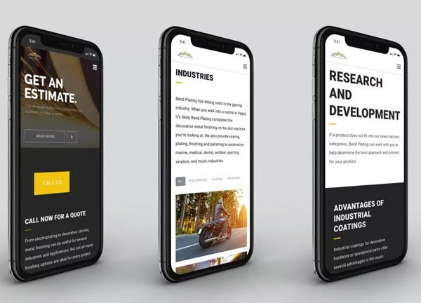 Bend Plating mobile site