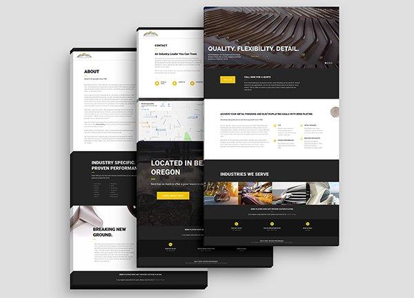 Bend Plating web development