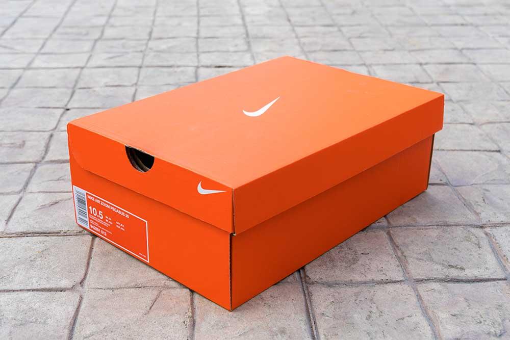 Nike shoe box; product branding