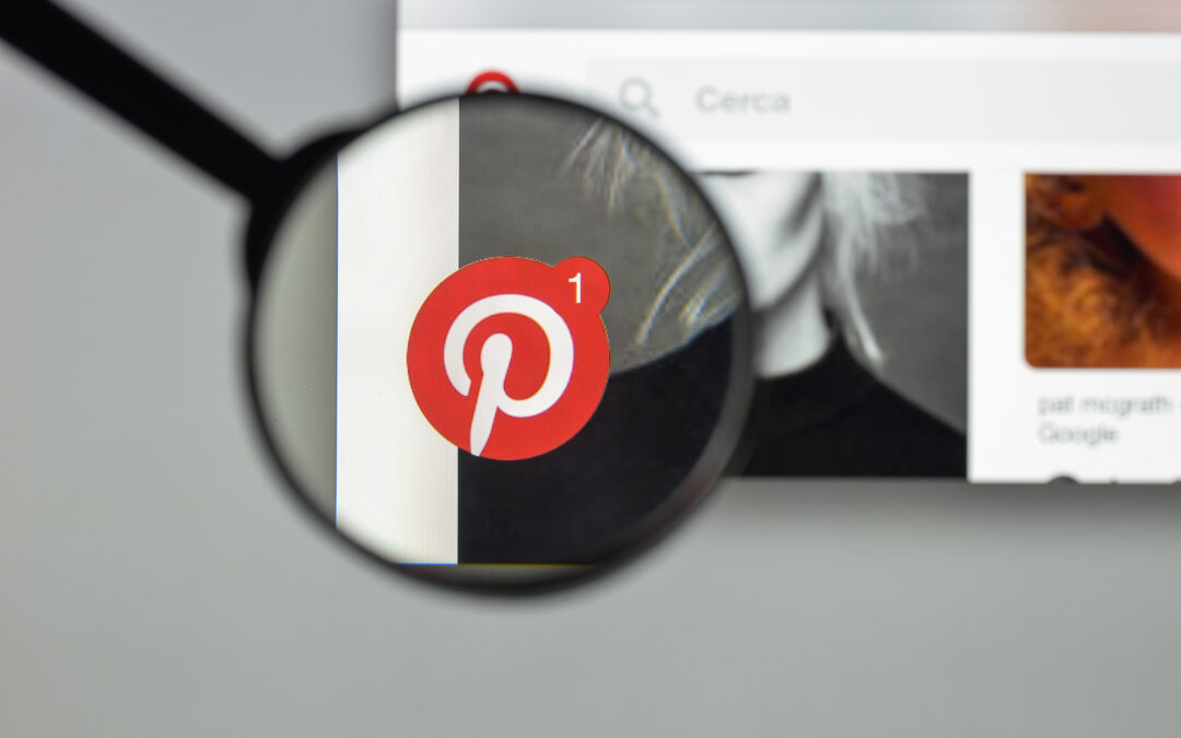 A magnifying glass on Pinterest marketing for SEO