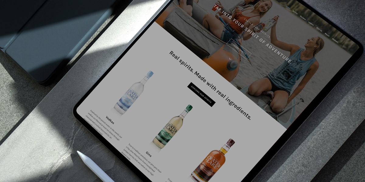 Crater Lake Spirits web design